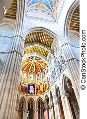 Almudena cathedral interior vertical