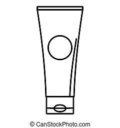 Aloe tube icon, outline style