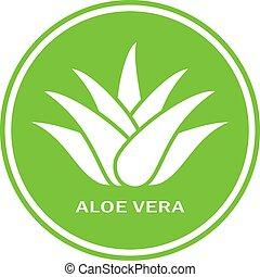 Aloe vera green icon