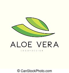 Aloe Vera logo design, natural product badge, label for beauty and cosmetics green label vector Illustration on a white background