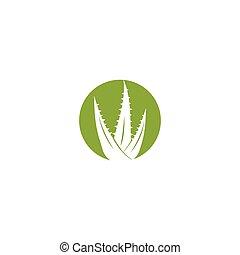 Aloe vera logo vector ilustration template