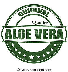 Aloe vera - Stamp with text aloe vera inside, vector ...