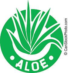 aloe vera symbol (aloe vera plant sign, aloe vera label,...