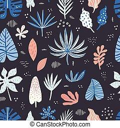 aloha, ハワイ, 手, 引かれる, seamless, パターン