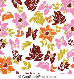 Aloha Flower Pattern - Seamless hawaiian flower pattern