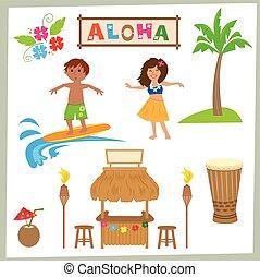 aloha, sätta