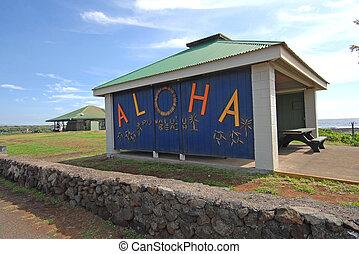 aloha, sinal bem-vindo, havaí