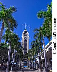 Aloha Tower in Honolulu, Oahu, Hawaii