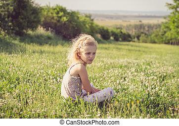 alone in meadow