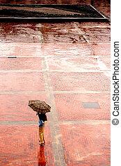 Alone in the rain