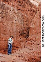 Alone In The Stone Desert Of Utah