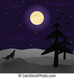 Alone standing wolf