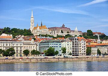 Along Danube River in Budapest