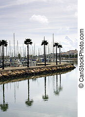 Along the Canal in Lagos Portugal