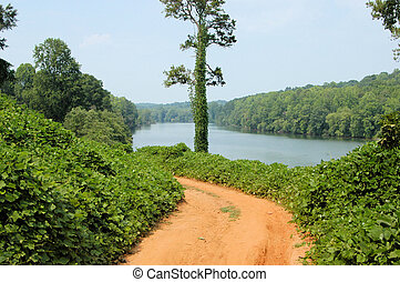 Along the river - Along the Catawba River in western North...