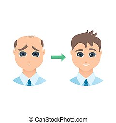 alopecia, állhatatos, ember