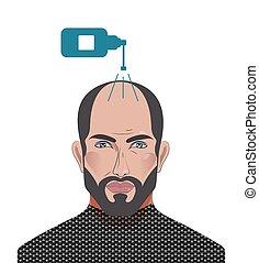 alopecia, bánásmód, ember