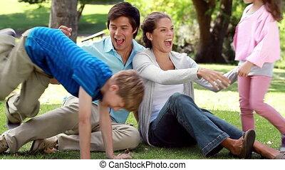 alors, séance, leur, parents, venir, enfants, heureux