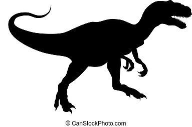 Alosaur - Abstract vector illustration of prehistoric animal...