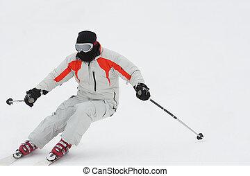 alpejka skier, spadek sport narciarski