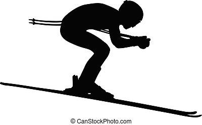 alpejski, mężczyźni, narciarstwo