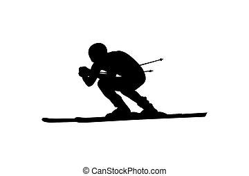 alpejski sport narciarski, spadek skier