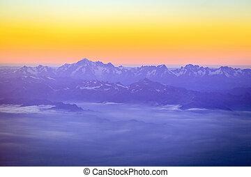 alpen, berg, europa, mont, verbreidingsgebied, piek, hoogst...