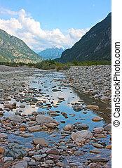 alpen, italië, ladnscape, verbazend, gemona, taken