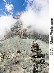 alpen, steegjes, meldingsbord, italiaanse