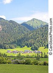alperna, mountains, in, den, österrike