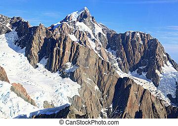 alpes, alpino, aéreo, suthern, vista