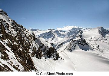 alpes, austríaco, paisaje