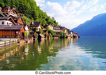 alpes, austríaco, vila