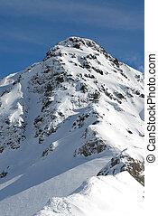 alpes, dans, hiver