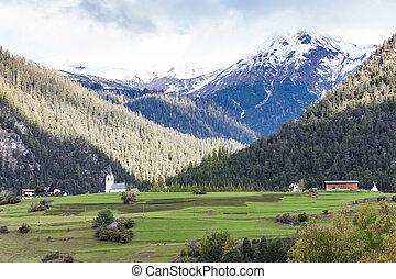 alpes, filisur, canton, suisse, graubunden, paysage