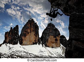 alpes, grimpeurs, dolomite