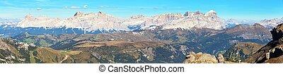 alpes, itália, montanhas, dolomites