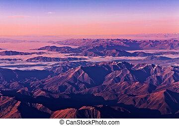 alpes, méridional, nouvelle zélande