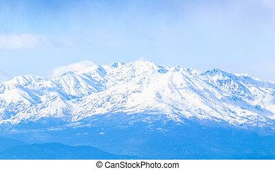 alpes, montagnes, hdr