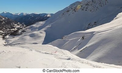 alpes, montagnes, neigeux