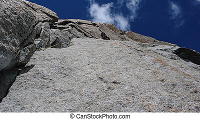 alpes, montagnes, parcours, francais, rocher, granit, mâle, escarpé, grimpeur, chamonix