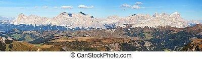 alpes, montanhas dolomites, itália