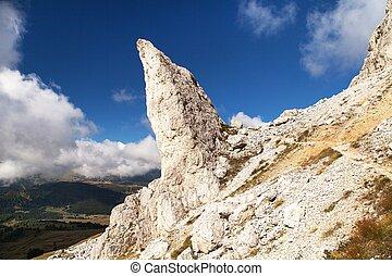 alpes, montanhas, penhasco, dolomites