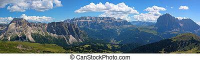 alpes, panorama, italia