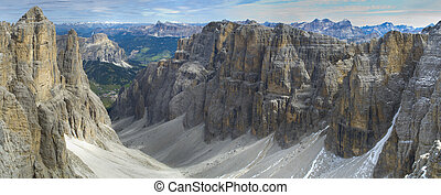 alpes, panorama, paisagem, dolomites
