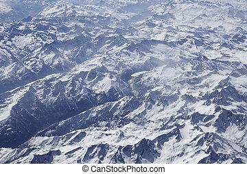 alpes, photo aérienne