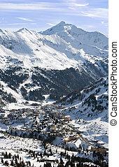 alpes, recurso, obertauern, esquí, austríaco