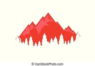 alpes suisses, vecteur, illustration, eps, 10