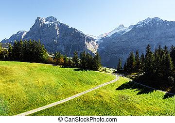 alpes suizos, montañas