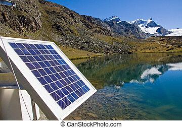 alpes, tecnologia, solar